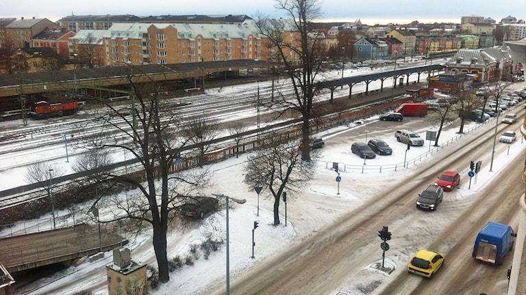 Karlstad centralstation. Foto: Lars-Gunnar Olsson/Sveriges Radio.
