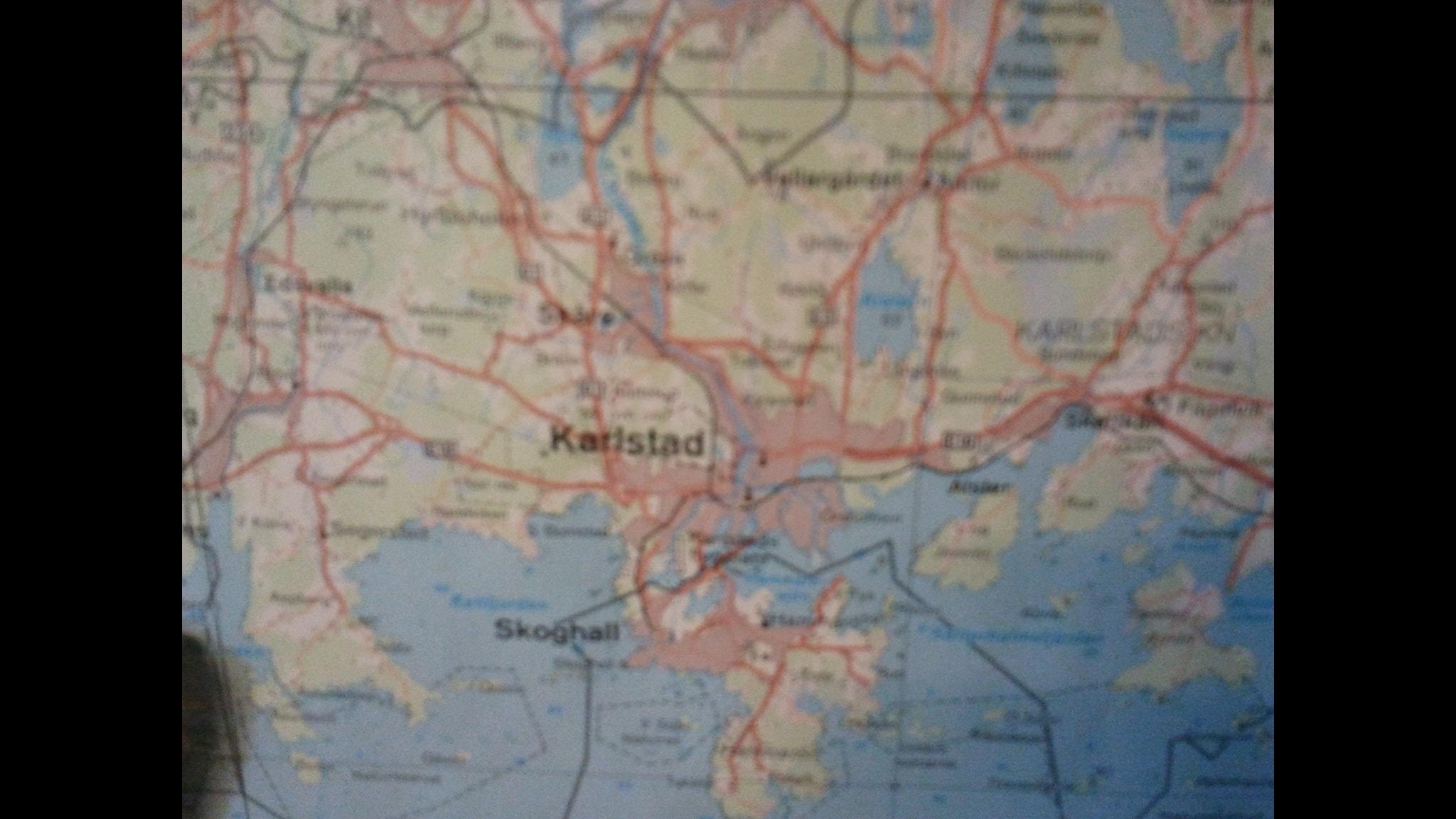 detaljerad karta värmland