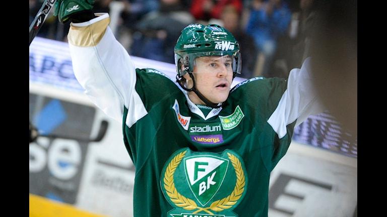 Mikael Johansson i FBK-tröjan