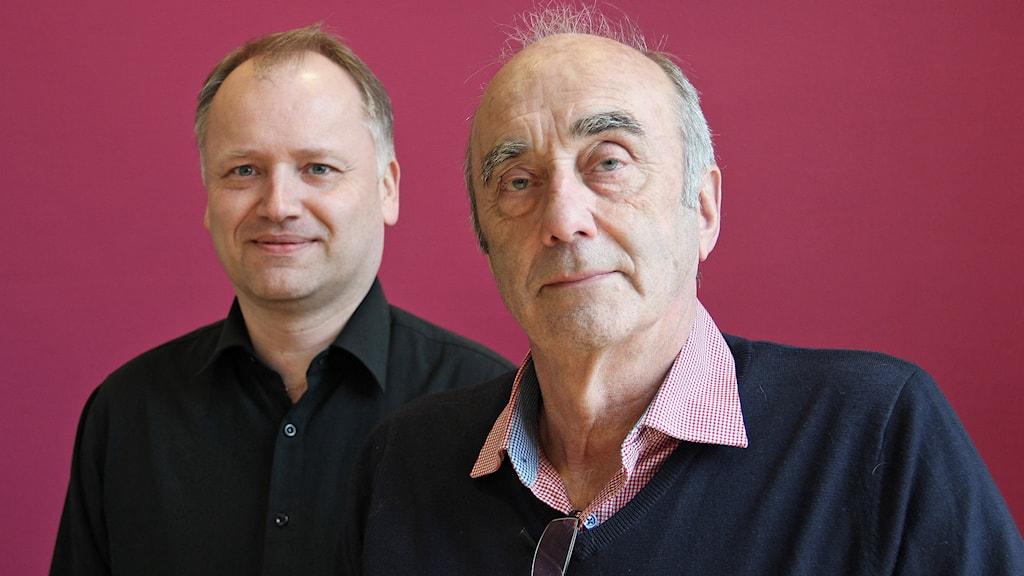 Kenth Gustafsson och Ove Sandberg. Foto: Lars-Gunnar Olsson/Sveriges Radio.
