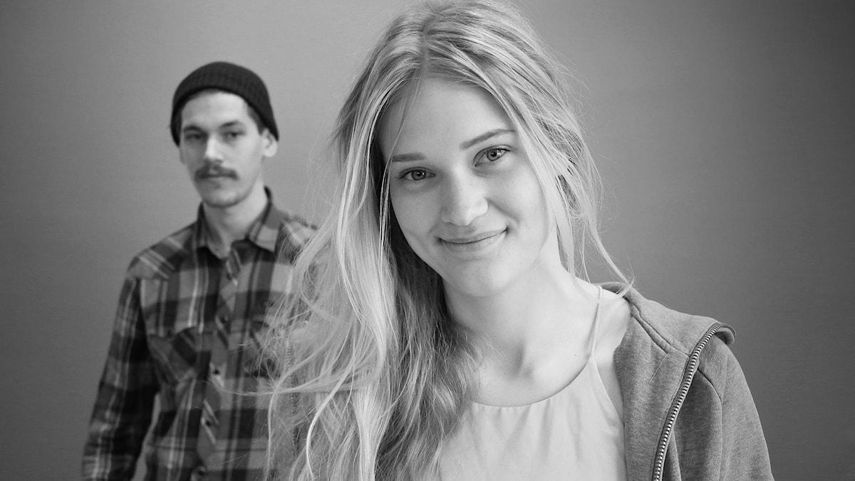 Alexandra Kjellberg och Gustav Yddenius. Foto: Lars-Gunnar Olsson/ SR Värmland
