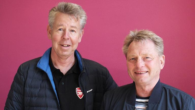 Björn Landegren och Ulf Johansson. Foto: Lars-Gunnar Olsson/Sveriges Radio.