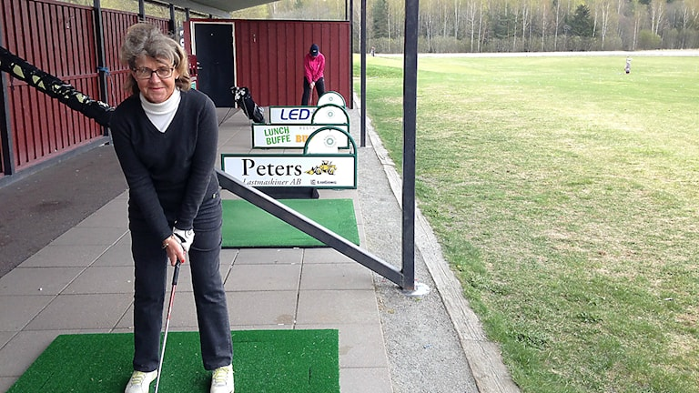 Marie-Louise Zetterberg, vid rangen på Karlstad GK. Foto: Robert Ojala / SverigesRadio