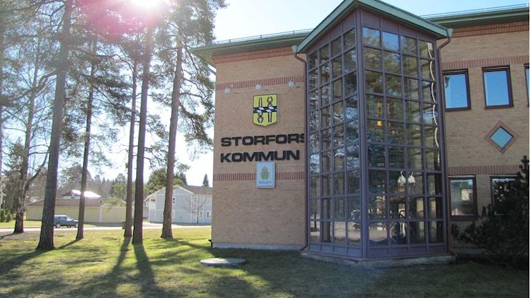 Storfors kommunhus. Foto: Magnus Hermansson/Sveriges Radio arkiv.