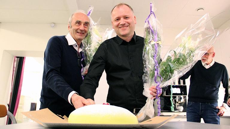 Ove Sandberg och Kenth Gustafsson. Foto: Lars-Gunnar Olsson/Sveriges Radio.