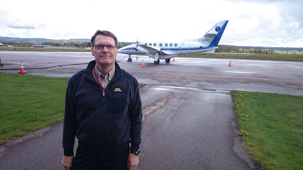 Sture Lindqvist. Chef Torsby flygplats. Foto: Lennart Nordenstein.