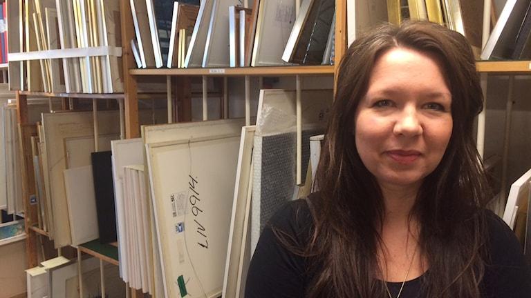 Anna Åberg, konstcehf på Landstinget i Värmland. Foto: Jenny Tibblin, P4 Värmland, Sveriges Radio.