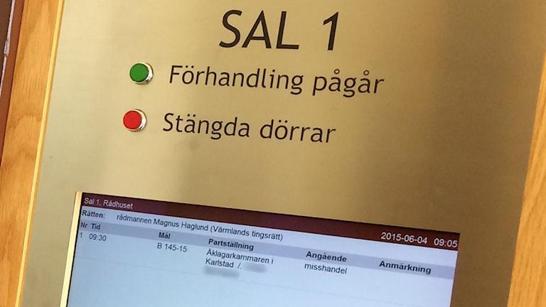 Bild från Tingsrätten. Foto: Magnus Hermansson/Sveriges Radio.
