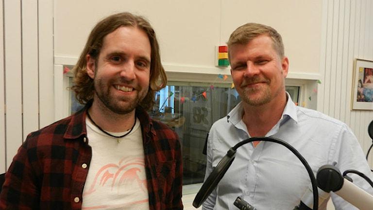 Finn Nilsson och Petter Säterhed vid Karlstads universitet. Foto: Hedvig Nilsson