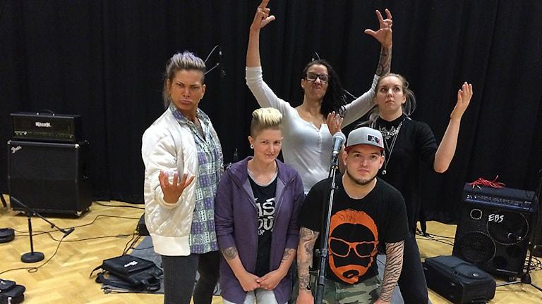 Metalgruppen Imber. Foto: Robert Ojala/Sveriges Radio