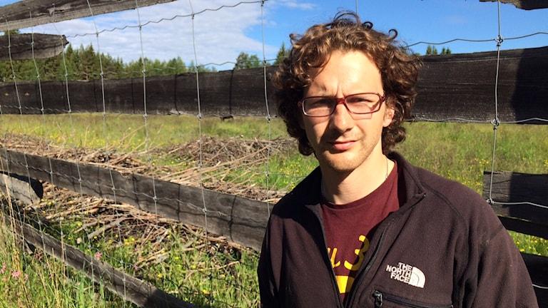 James Gegg är ny ägare för älgparken i Ekshärad. Foto: Jenny Tibblin, Sveriges Radio, P4 Värmland.