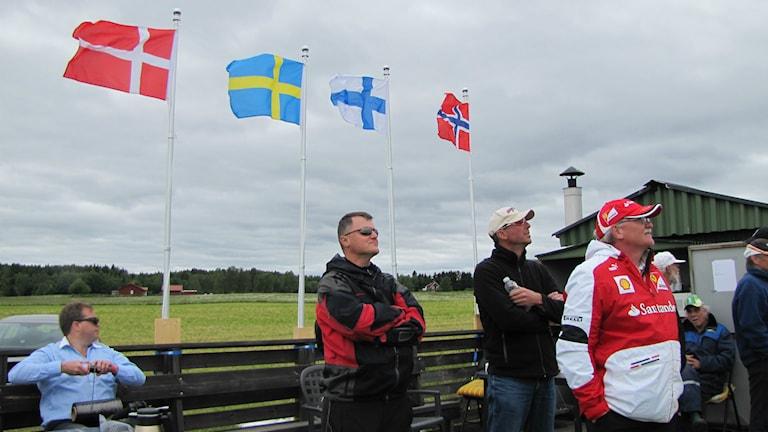 Publik på nordiska mästerskapen i modellflygning