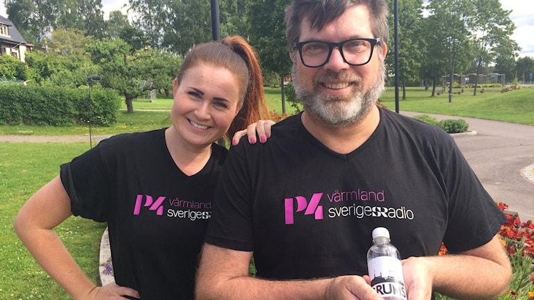 Sara Johansson och Bengt Höglind. Foto: Björn Söderholm/Sveriges Radio.