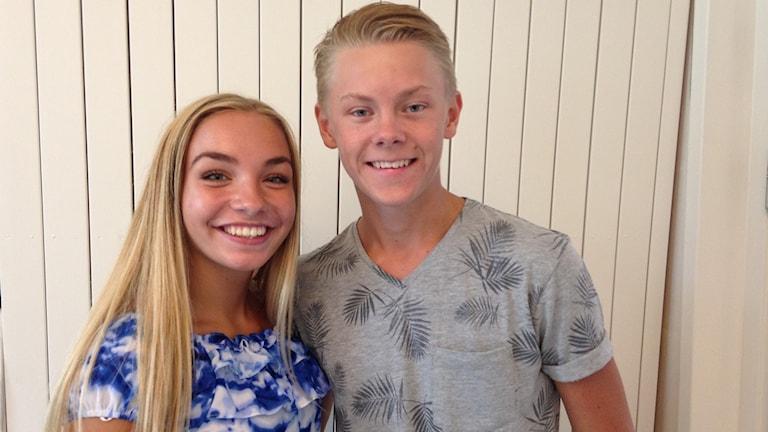 Joel Lundberg och Linnea Takman. Foto: Jenni Jansson/Sveriges Radio.