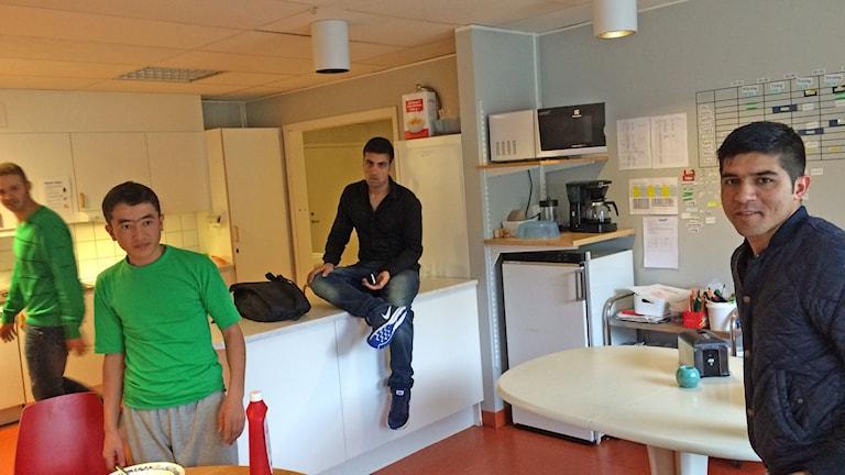 Ensamkommande flyktingbarn på Clarabo i Årjäng. Foto: Jenny Tibblin/Sveriges Radio