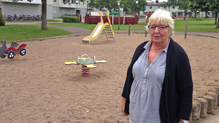 Inger Karlsson, förskolelärare och föreståndare på personalkooperativet Bojen i Karlstad. Foto: Robert Ojala/Sveriges Radio