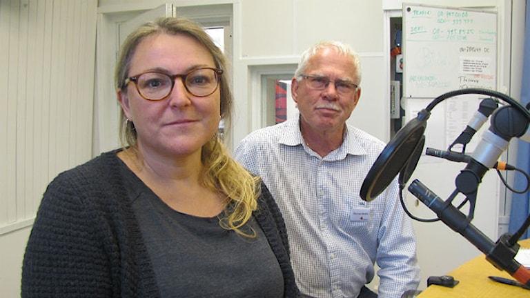 Sofia Westberg, MSB och Gunnar Ström, Röda korset - två proffs på internationellt hjälparbete. Foto: Hedvig Nilsson