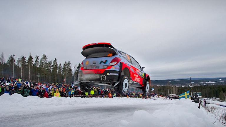 Rallybil. Foto: Micke Fransson/TT
