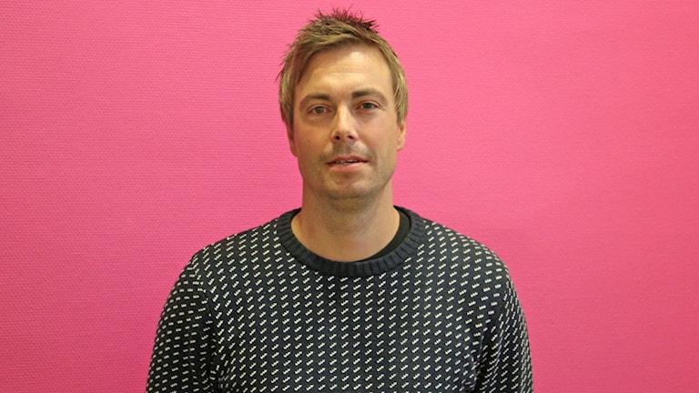 Henrik Flognman, tränare Karlstad innebandy dam. Foto: Jenni Jansson/Sveriges Radio