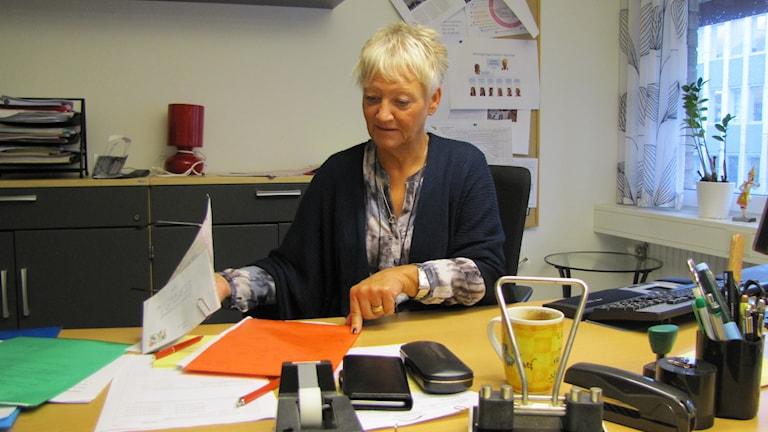 Lotta Anderberg, enhetschef Migrationsverket i Värmland. Foto: Albin Norén/Sveriges Radio
