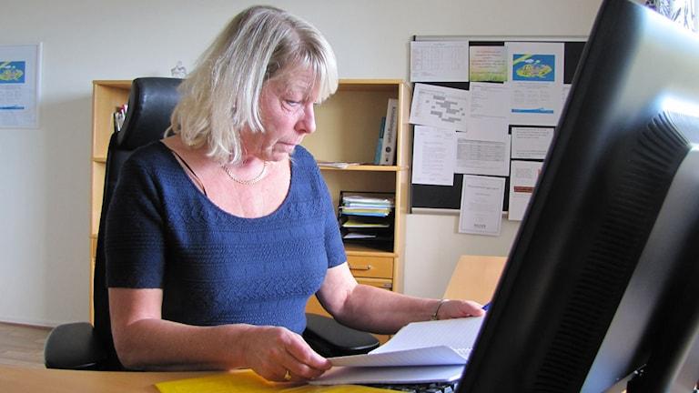 Ann-Louise Caesar, chef för äldreomsorgen i Säffle kommun. Foto: Albin Norén/Sveriges Radio