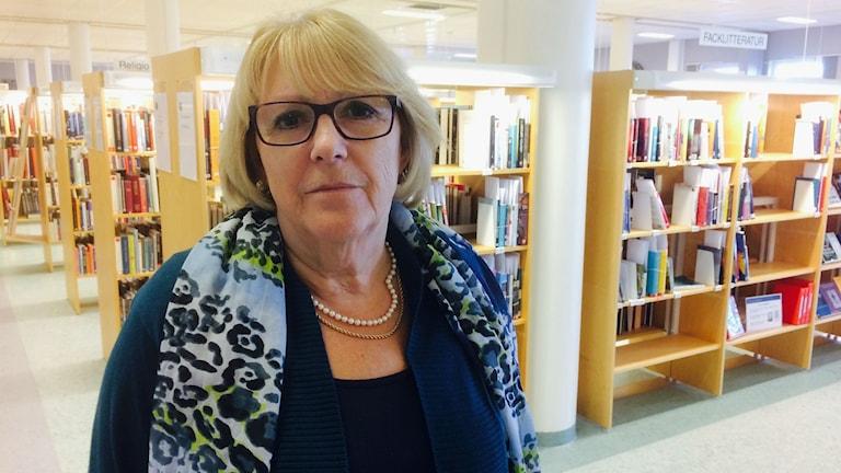 Lena Börjesson, bibliotekschef i Arvika. Foto: Magnus Hermansson/Sveriges Radio.