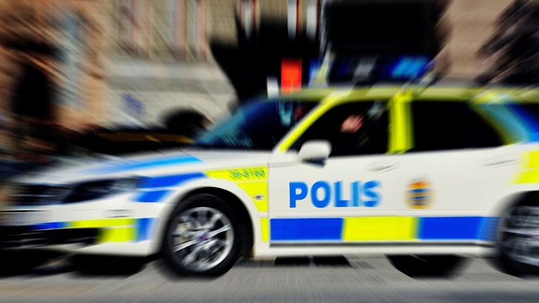 Polisbil. Foto: Hasse Holmberg/SCANPIX