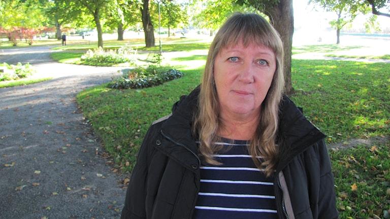 Aina Wåhlund, socialdemokrat och ordförande i kommunstyrelsens utskott för lärande och stöd. Foto: Albin Norén/Sveriges Radio