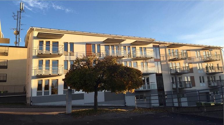 Kvarteret Veterinären med 39 nybyggda lägenheter i centrala Arvika. Foto: Anton Eriksson/Sveriges Radio P4 Värmland.
