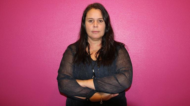 Petra Jeppsson, kriminalinspektör. Foto: Jenni Jansson/Sveriges Radio
