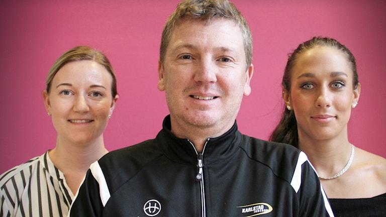 Adina Augustsson, Peter Andersson och Dragana Mercic. Foto: Lars-Gunnar Olsson/Sveriges Radio.