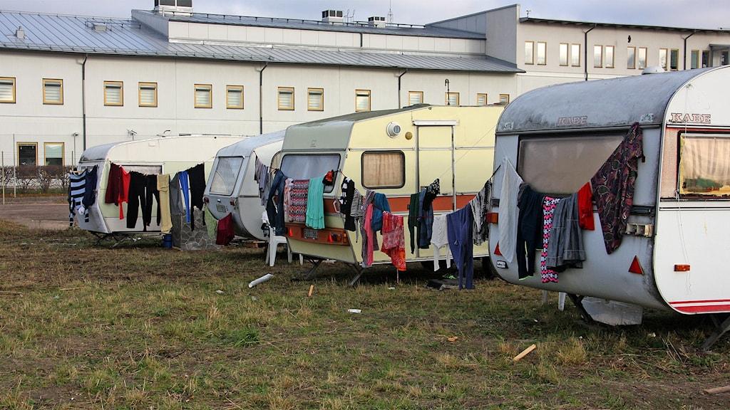 Migrantbostäder på Våxnäs Foto Örjan Bengtzing/Sveriges Radio.