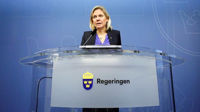 Finansminister Magdalena Andersson. Foto: Christine Olsson/TT