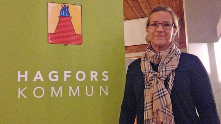 Åsa Johansson (S), kommunstyrelsens ordförande i Hagfors. Foto: Robert Ojala/Sveriges Radio