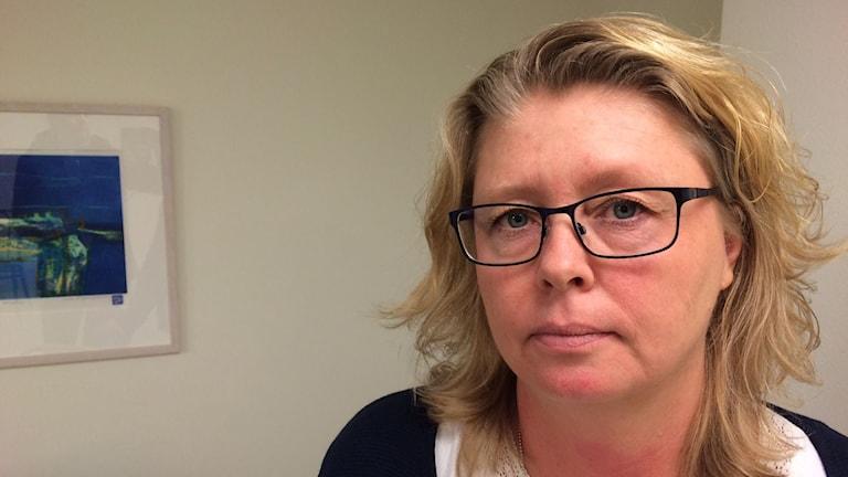 Maria Svensson, verksamhetschef på BUP. Foto: Jenny Tibblin/Sveriges Radio