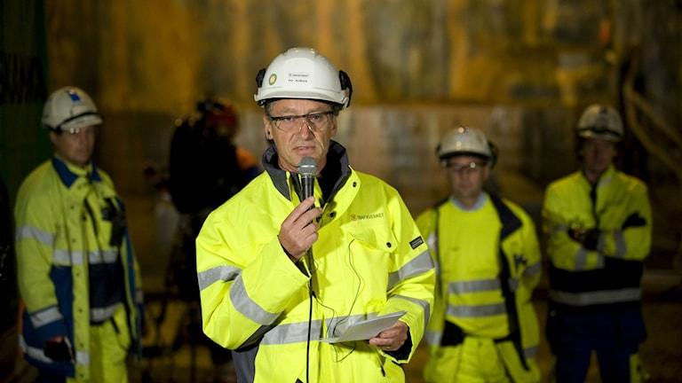 Per Rydberg var tidigare projektchef för tunnelbygget i Hallandsås. Foto Björn Lindgren/TT arkiv.