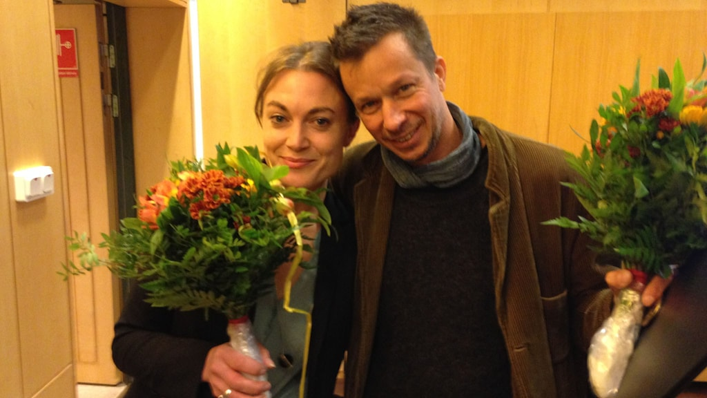 Sara Broos och JH Engström. Foto: Robert Ojala/Sveriges Radio