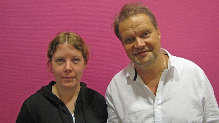 Marie Eriksson och Magnus Wallgren. Foto: Mari Stenström/Sveriges Radio