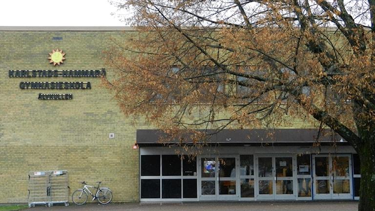 Sundsta Älvkullegymnasiet i Karlstad. Foto Roy Malmborg Sveriges Radio