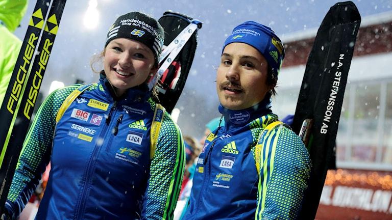 Linn Persson och Tobias Arwidsson. Foto: Marie Birkl/TT