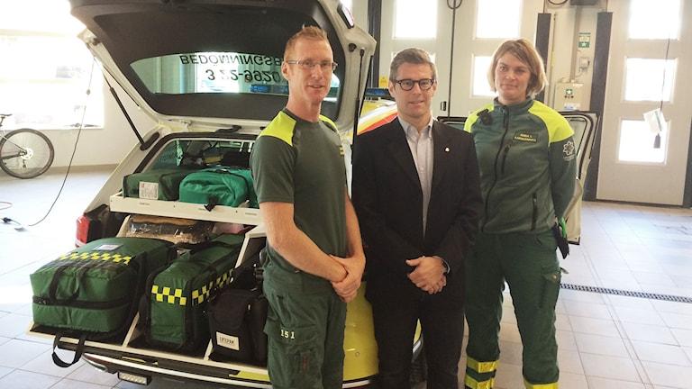 Johan Trulsson, Wolmer Edqvist och Anna Löwnhamn. Foto: Per Larsson/Sveriges Radio.