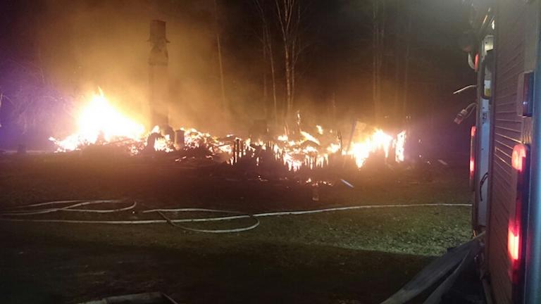Brand i Visnums Kil. Foto: Bergslagens räddningstjänst.