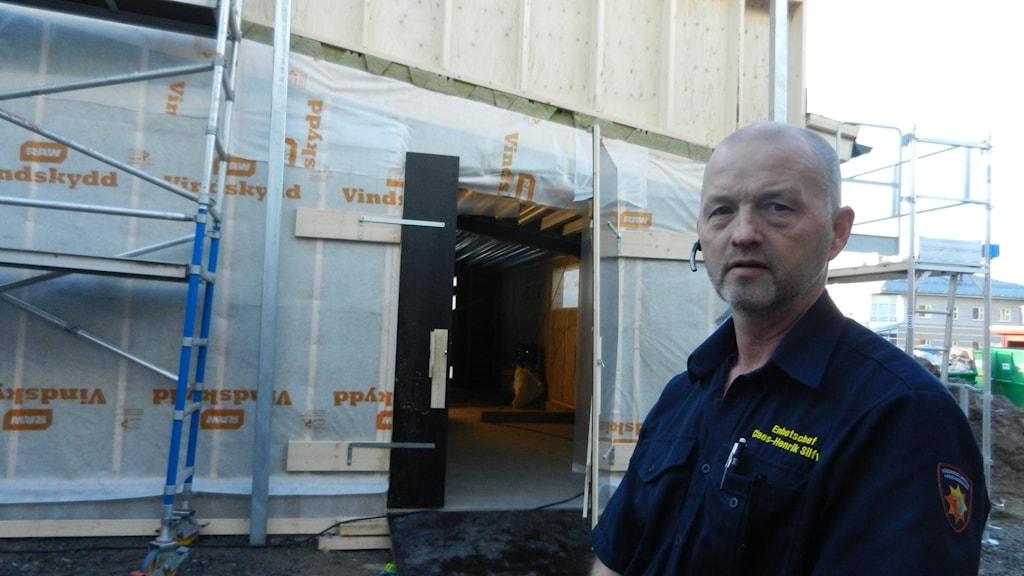 Claes Henrik Silver Räddningstjänsten Karlstadsregionen. Foto Roy Malmborg Sveriges Radio