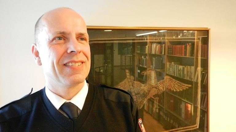 Nils Weslien räddningschef på Räddningstjänsten Karlstadsregionen. Foto Roy Malmborg Sveriges Radio