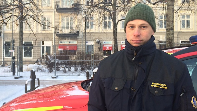Mattias Larsson, Räddningschef i Arvika. Foto: Jenny Tibblin/Sveriges Radio.
