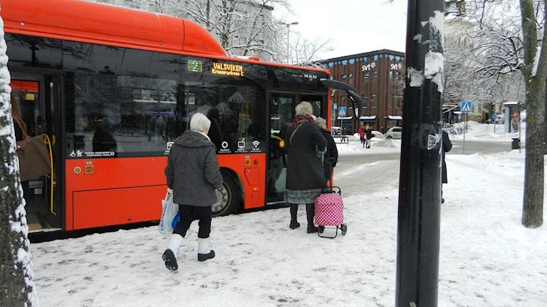 Karlstadsbuss hållplats Stora Torget.