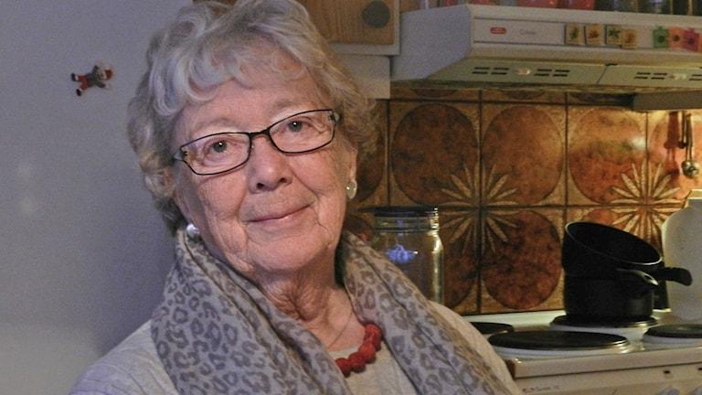 Margareta Moberg. Foto: Sven Westerdahl/Sveriges Radio.
