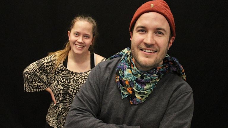 Johanna Boes och Gustaf Andersson. Foto: Lars-Gunnar Olsson/Sveriges Radio.