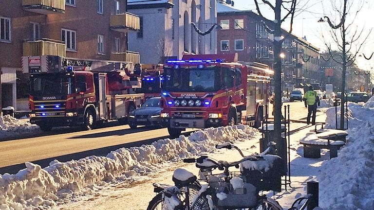 Brand Östra Torggatan i Karlstad