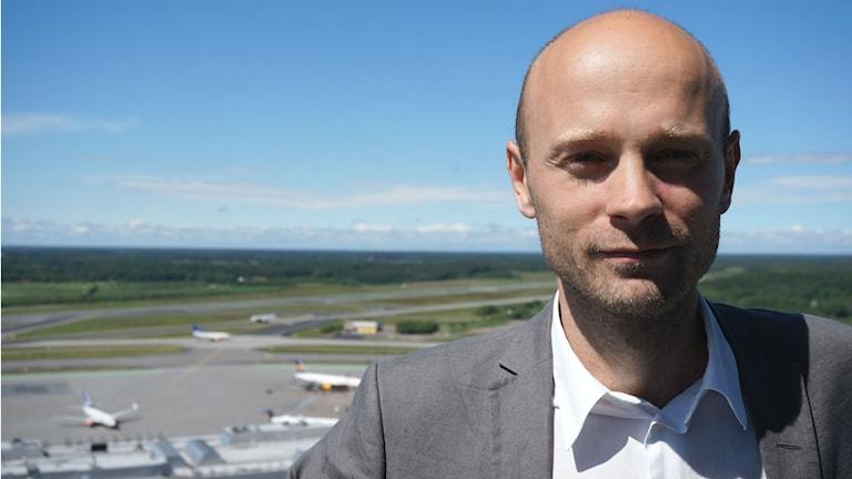 Klas Nilsson, kommunikationsstrateg på Swedavia. Foto: Swedavia.